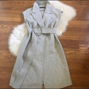 Grey Wool blend duster